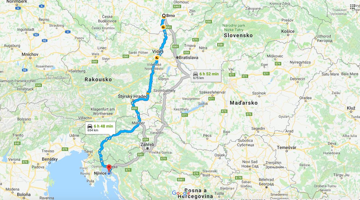 Cesta Do Chorvatska Z Brna Na Krk V Puli Cervna Temer Bez